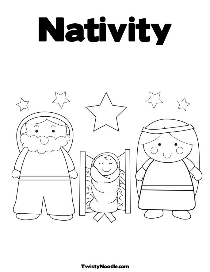 Nativity Preschool Coloring Pages Nativity Best Free Preschool Nativity Coloring Pages