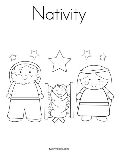 Nativity Character Coloring Pages Nativity coloring page