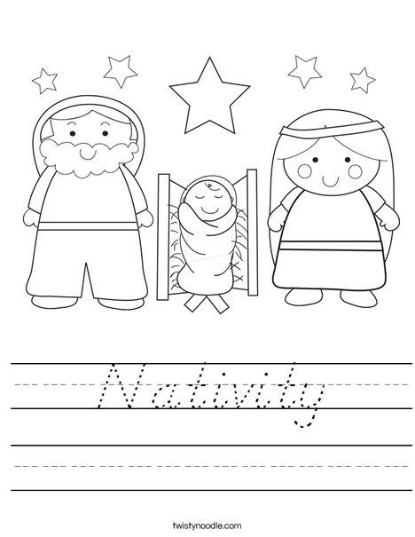 Nativity Worksheet