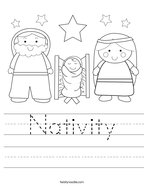 Nativity Handwriting Sheet