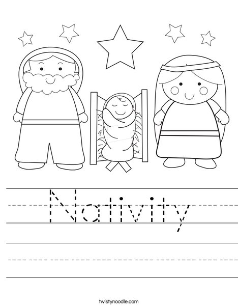 Nativity Worksheets for Kindergarten and First Grade - Mamas ...