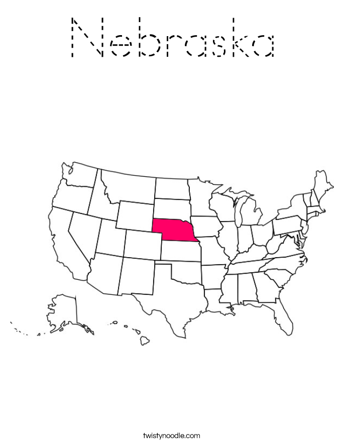 Nebraska Coloring Page