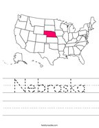 Nebraska Handwriting Sheet