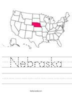 Nebraska Handwriting Sheet