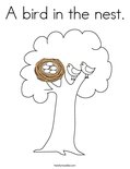 A bird in the nest.Coloring Page