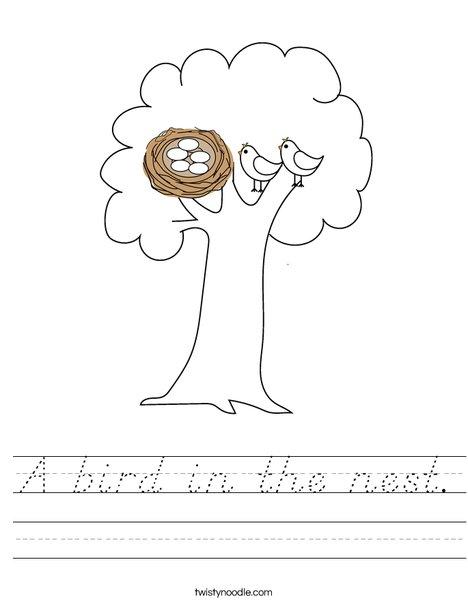 Nest in a Tree Worksheet