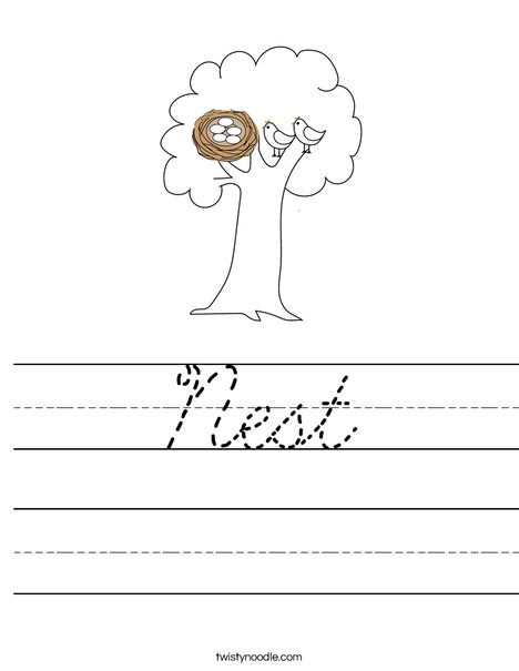 Nest in a Tree Worksheet