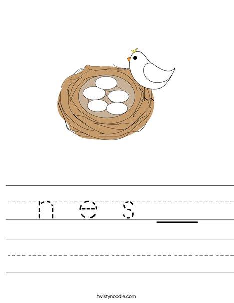 Nest Worksheet