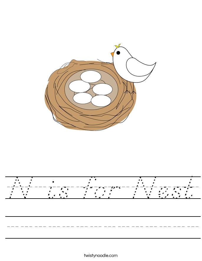 N is for Nest Worksheet