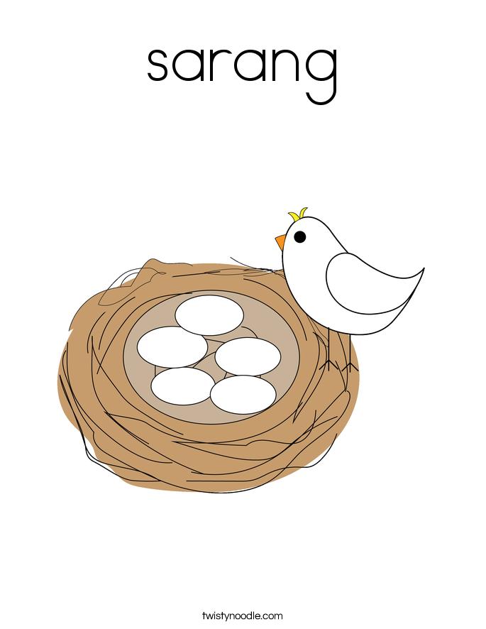 sarang Coloring Page