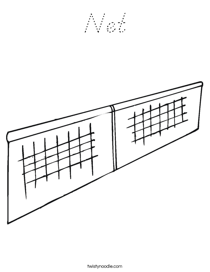 Net Coloring Page
