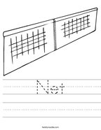 Net Handwriting Sheet