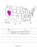 Nevada Handwriting Sheet
