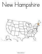 New Hampshire Coloring Page