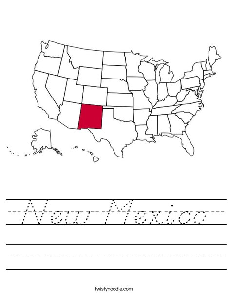 New Mexico Worksheet