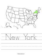 New York Handwriting Sheet