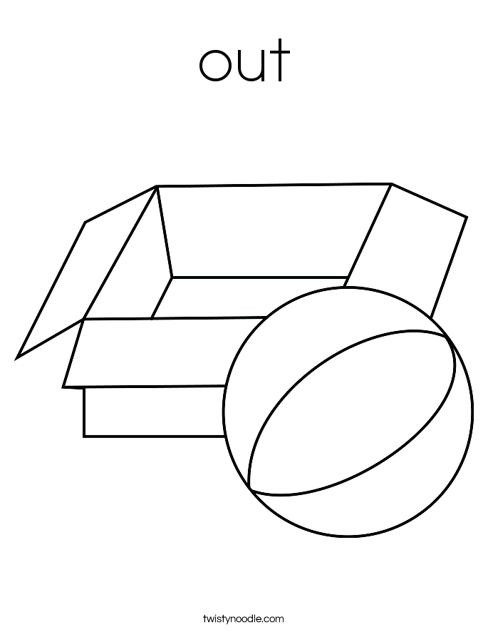 out Coloring Page