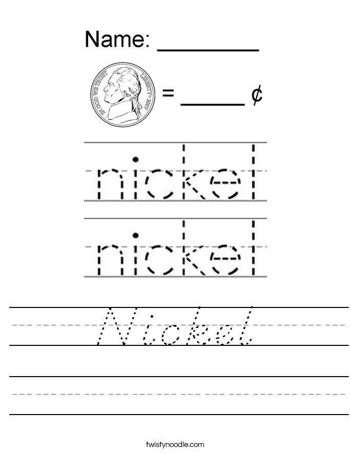 Nickel Worksheet