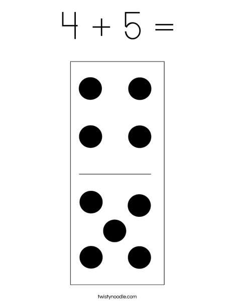 Domino Nine Coloring Page