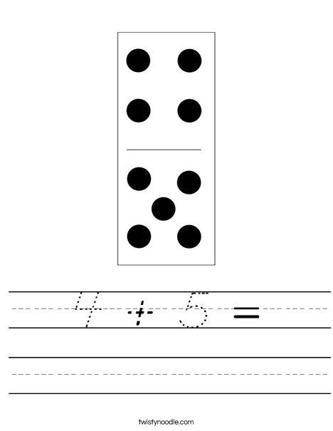Domino Nine Worksheet