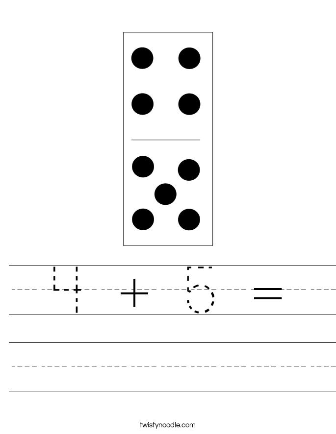 4 + 5 = Worksheet
