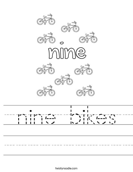 Nine Bikes Worksheet