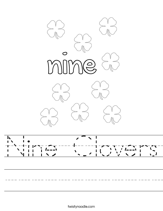 Nine Clovers Worksheet