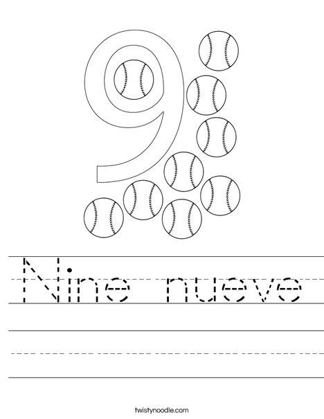 Elephant Nine Worksheet