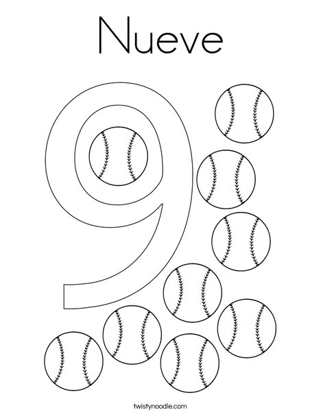 Elephant Nine Coloring Page