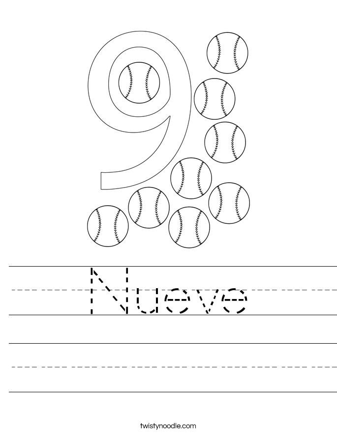 Nueve Worksheet