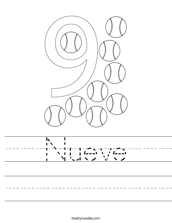 Nueve Worksheet