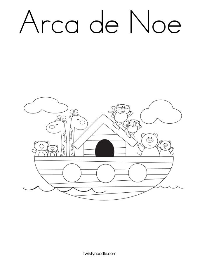 Arca de Noe Coloring Page