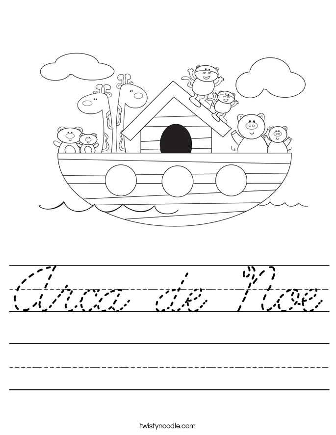 Arca de Noe Worksheet