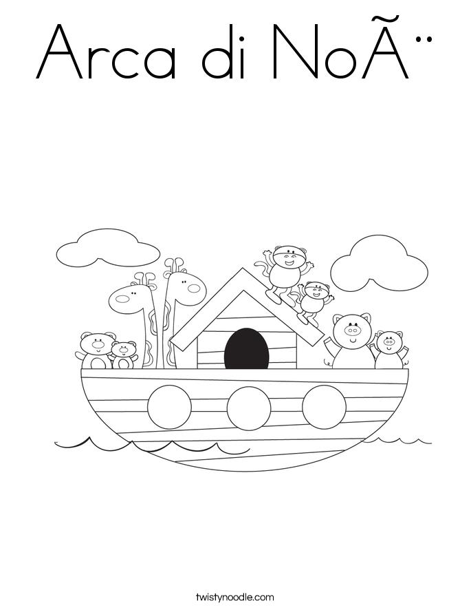 Arca di Noè Coloring Page