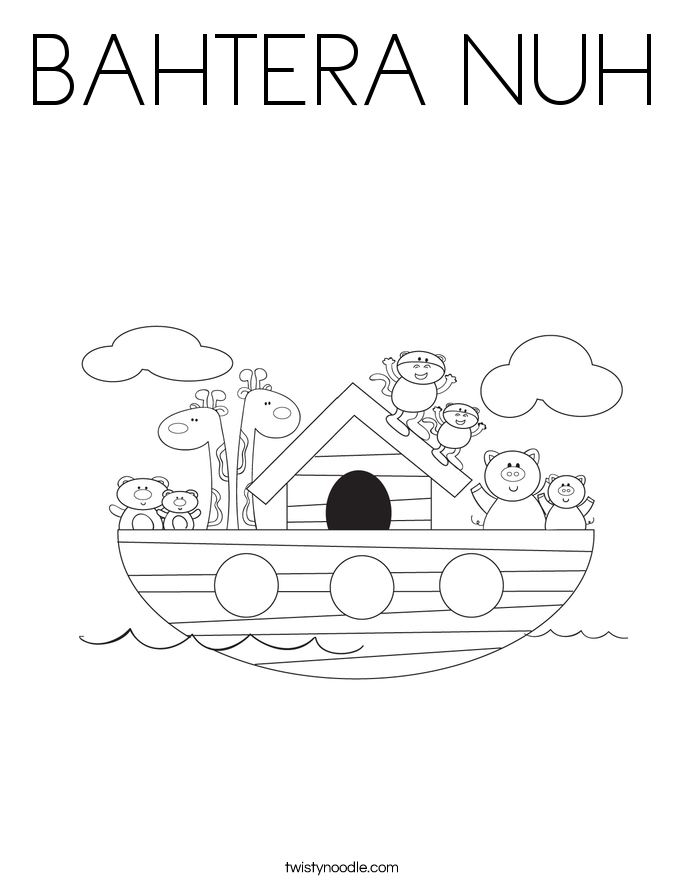 BAHTERA NUH Coloring Page
