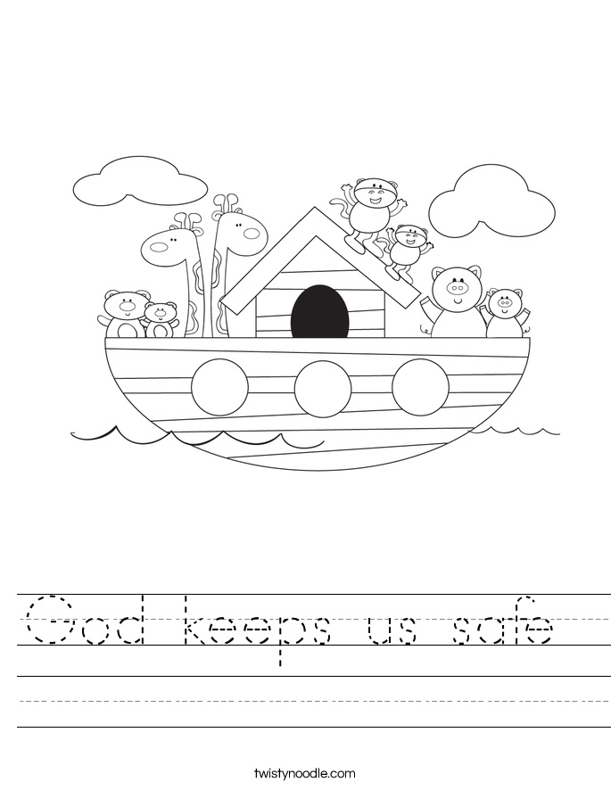 God keeps us safe  Worksheet