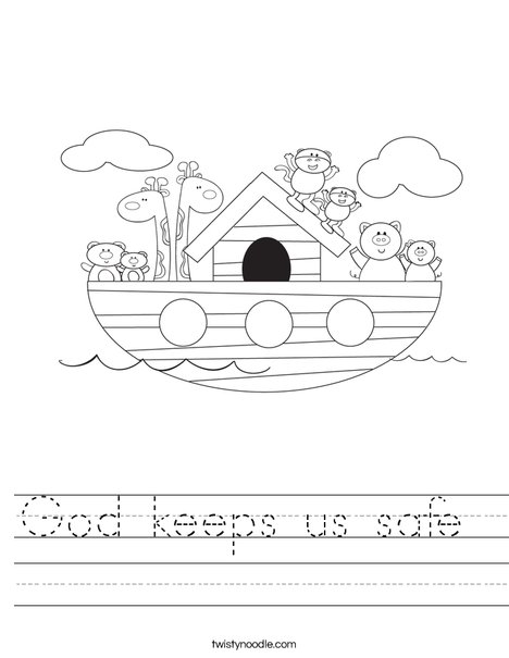 Noah's Ark Worksheet