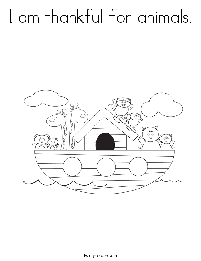 i am thankful coloring pages - photo #7