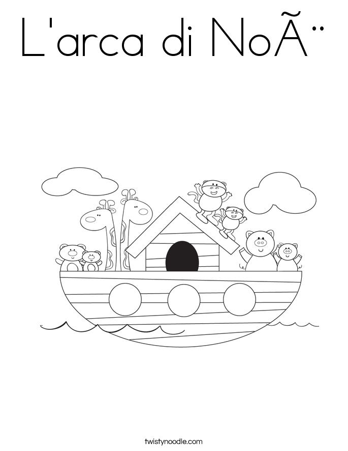L'arca di Noè Coloring Page