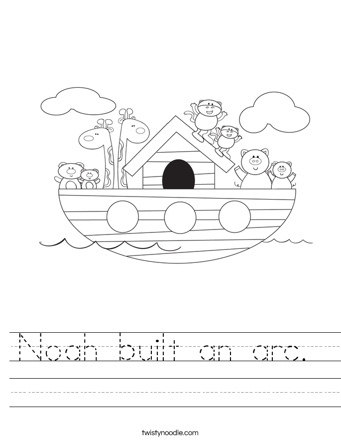 Noah built an arc.  Worksheet