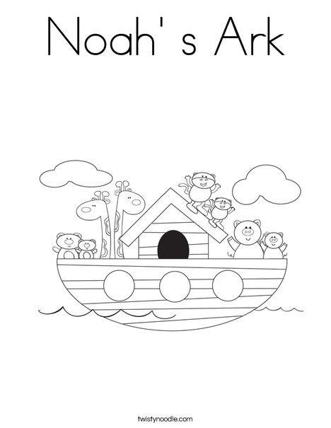 Noah\' s Ark Coloring Page - Twisty Noodle