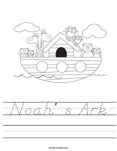 Noah's Ark Worksheet