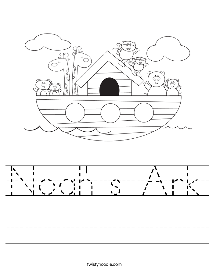 Noah' s Ark Worksheet