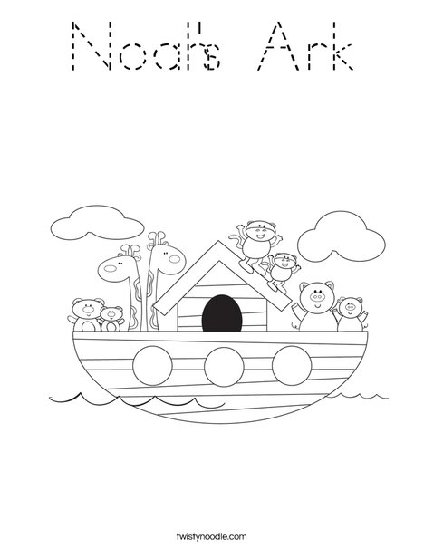 Noah's Ark Coloring Page