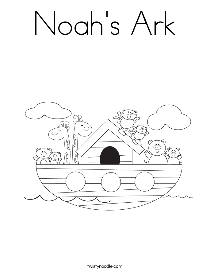noah's ark coloring page - twisty noodle - Noahs Ark Coloring Pages Print