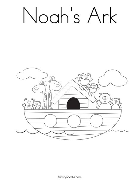 Noah 39 s ark coloring page twisty noodle for Noah ark coloring page