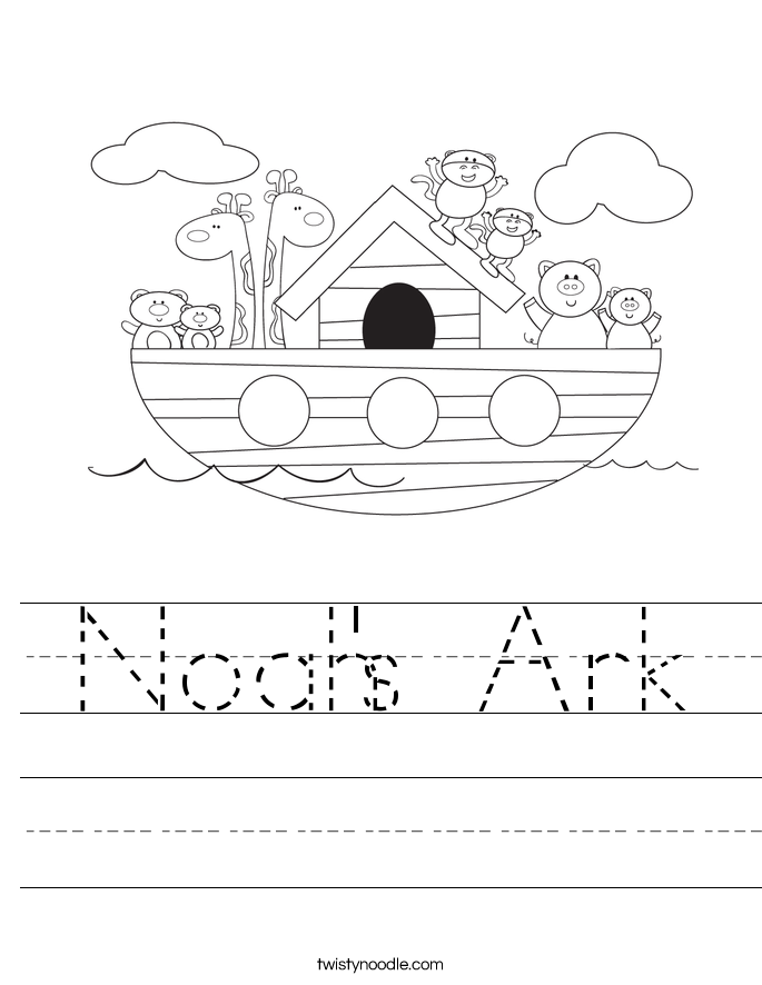 Noah S Ark Worksheet Twisty Noodle Noah S Ark For Color Sheets