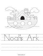 Noah's Ark Handwriting Sheet