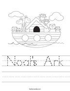 Noah's Ark Handwriting Sheet