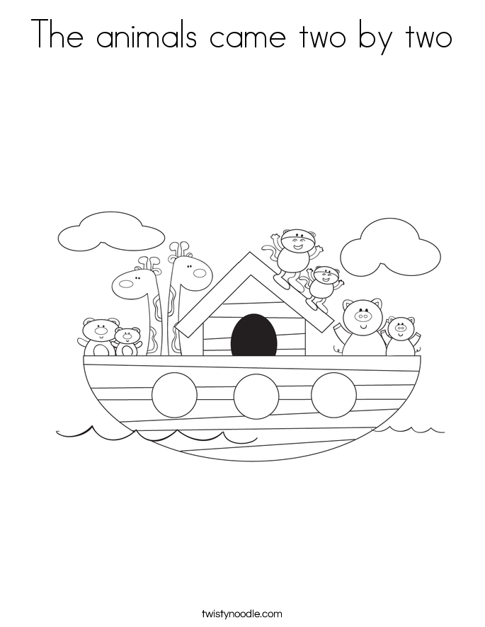 The animals came two by two Coloring Page